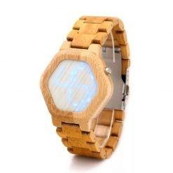 argan – digital bamboo wood case watch