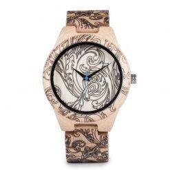 ashoka – white maple wood wrist watch