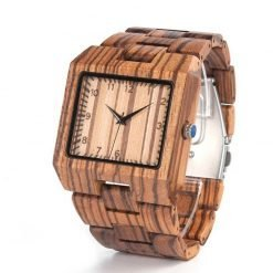 cocobolo – zebrawood wooden watch