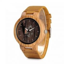 fever – leather strap zebrawood watch