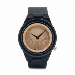 Ironwood – Leather Strap Ebony Wood Watch