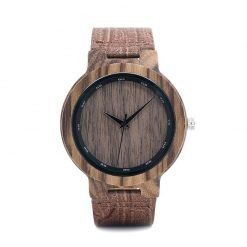 Privet – Leather Zebrawood Wooden Watch